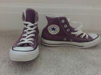 Converse All Stars - Size 5 - Purple