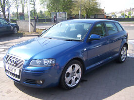 2007 audi a3 sportback sport tdi 170 bhp fsh new mot very clean £3495 fixed price