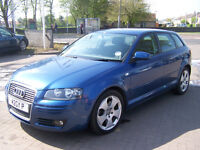 2007 audi a3 sportback sport tdi 170 bhp fsh new mot very clean £3495 fixed price