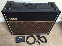 Vox AC30VR Guitar Amplifier, Great condition! Hardly gigged. With channel selector pedal!!