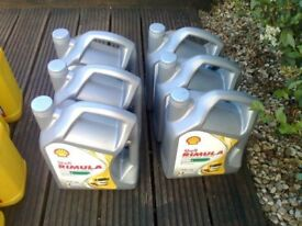 5ltr bottles of shell rimula 5w/40 heavy duty diesel engine oil