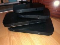 2 big sky boxes(1 2TB box and 1 1TB box) and two multirooms with remotes and cables