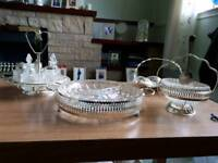 Silver plated serving set