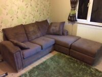 """CORNER SOFA """"L"""" SHAPED IN EXCELLENT CONDITION. WITH SAFETY LABELS"""
