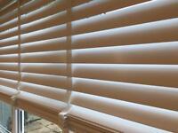 Brand new white wooden blind