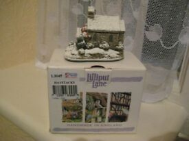 Lilliput Lane Handmade Church part of the Snow Collection