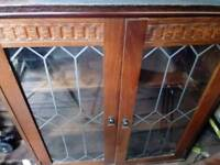 Dark wood furniture bargain. Display unit. Also shelving unit to go with it