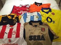 Arsenal classic shirts plus others