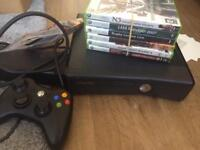 Xbox 360 s 240gb controller + games EXCELLENT CONDITION