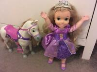 Rapunzel doll and horse