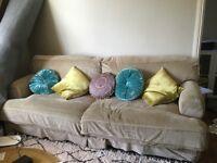 Ikea Ekeskog sofa (3/4 seater) with Mannarp Sand corduroy covers