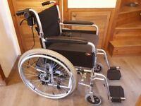 Engima wheelchair with power stroller