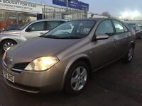 2005 05 NISSAN PRIMERA DIESEL DCI SUPERB DRIVE LOTS OF HISTORY CHEAP BARGAIN CAR NEW MOT GOOD COND.