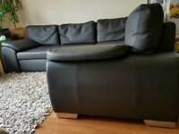 Large Corner Sofa Brown