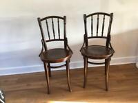 Lovely pair of Thonet bentwood A9800 chairs