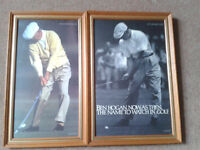 Two Ben Hogan Golf photographs.