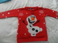 girls olaf christmas jumper