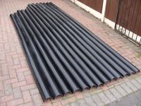 48+ metres of Black Marley Deep Guttering Gutters Stable Shed Gardening Trays +