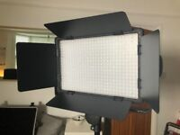 2 x Godox LED500C LED Light Panels with Remotes, Batteries, PSU and Charger
