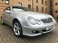 ★ Low Mileage, With Private Plate ★ YEARS MOT ★ NOV 2006 MERCEDES C220 CDI Diesel SE AUTO, 3dr Coupe