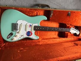 Brand New in the Box Fender Stratocaster Jeff Beck Signature Surf Green inc Tweed G&G Case RRP £1823