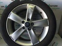 FORD GALAXY MK3 S-MAX 2007-2014 ALLOY WHEEL R17 (BAD TYRE) BD56-1