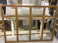 Upvc golden oak window
