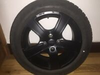 Set of 4 black Momo alloys for 2012 Mini fitted with Bridgestone Blizzak winter tyres