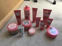 Soap and glory, body butter, hand cream, body lotion, body scrub etc