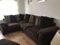 Corner Sofa, Couples Chair & Foot Stool Good Condition - £250 Collection Only