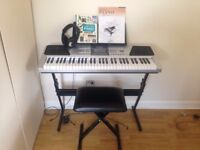 RockJam Keyboard Super Kid with Stand, Stool and Headphones included