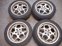 """AEZ 17"""" DISHED ALLOY WHEELS TO FIT AUDI A3, A4, A6 5 x 112"""