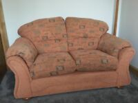 Fabric 2 seater sofa in new condition