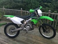 Kawasaki kLX450r road legal enduro bike 2014, very low mileage and light trail use only