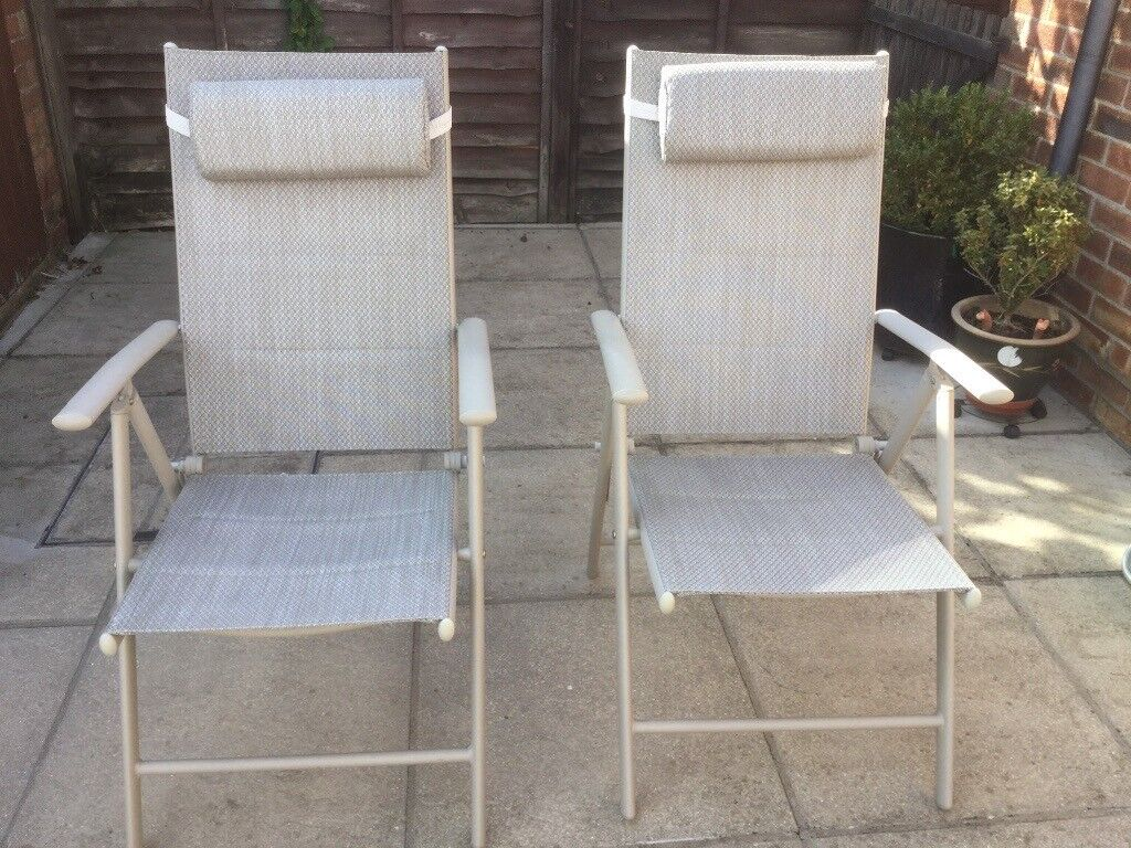 Enjoyable 2 Lightweight Reclining Caravan Camping Or Garden Aluminium Folding Chairs With Headrests X 2 In Norwich Norfolk Gumtree Ocoug Best Dining Table And Chair Ideas Images Ocougorg