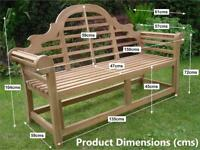 Garden bench Lutyen bench teak