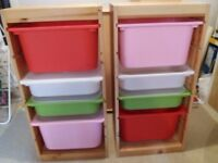 2 ikea trofast storage units in excellent condition