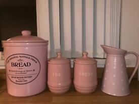 Pink kitchen appliances