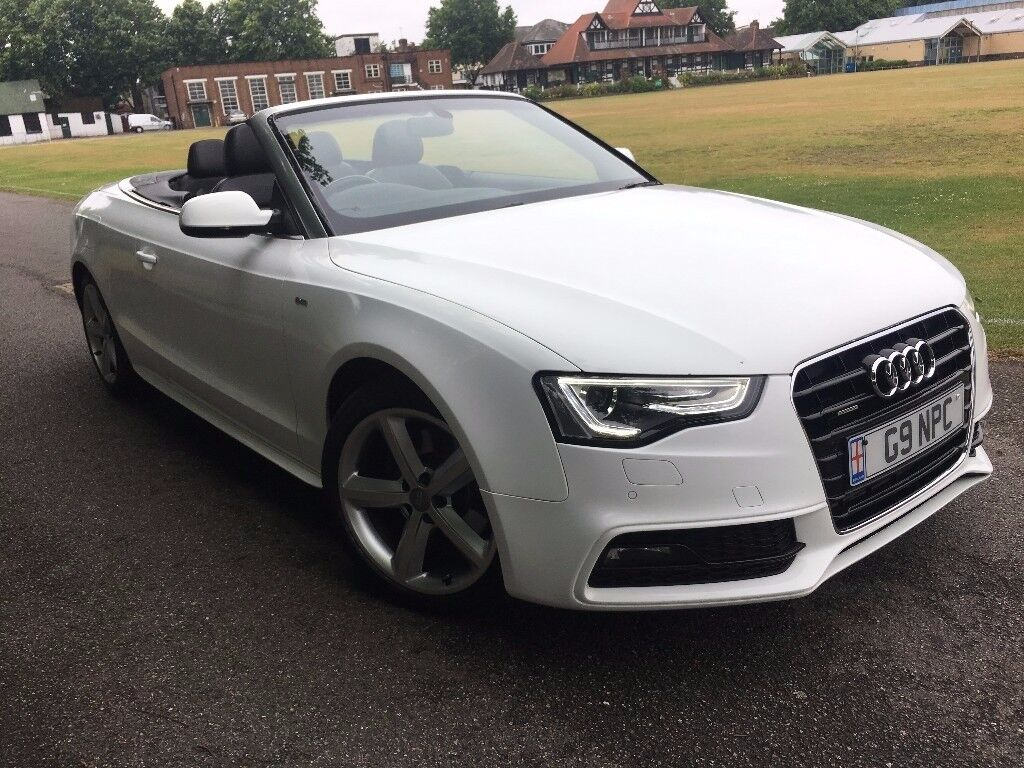 audi a5 3 0 quattro s line tdi 2012 62 convertible white automatic full service history 2 keys. Black Bedroom Furniture Sets. Home Design Ideas