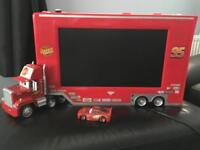 CARS 2 TELEVISION WITH BUILT IN DVD PLAYER