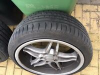BMW ORIGINAL BREYTONE 19'' ALLOYS WITH BRAND NEW TYRES BMW E60