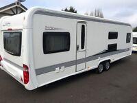 Hobby Caravan 720 Ukfme Prestige (2012) Premium Model Interior 7 Beth With Bunk Beds. Tabbert/Fendt