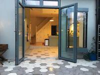 Solus Manja Italian hexagonal dark grey tiles - unused - 8 square metres