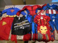 Super hero costumes Iron Man, Captain America, Spiderman, Superman, Badcop
