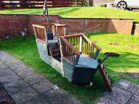Handmade Wooden Children's Outdoor Toy Pirate Ship Den