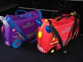Trunki Ride On Suitcase fire engine & Princess