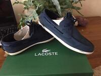 Men's lacoste land sailing boat shoes size 10