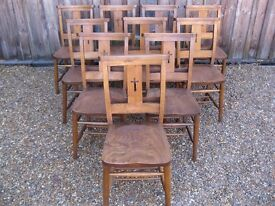 GENUINE CHURCH / CHAPEL CHAIRS WITH BOOK HOLDERS. Delivery possible. LOTS AVAILABLE.