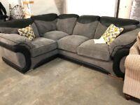 exDisplay black grey modern corner suite