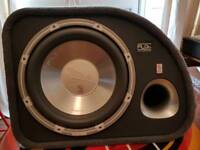 1200 watts subwoofer and amp. Mint condition. Very heavy base.